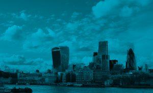 London Skyline Blue FireTap
