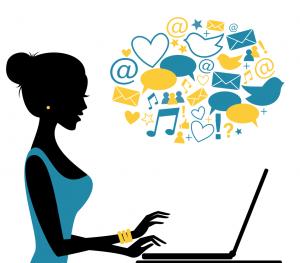Social Blogger Silhouette