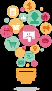 Digital Marketing Ideas Light Bulb