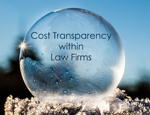 Cost Transparency within Law Firms