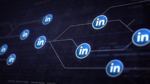Linkedin icon connected via lines